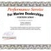 Performance Service Certification